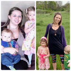 """Trim Healthy Mama """"Before & After""""! """"What a difference 2 years (and 55lbs) make!"""" - Lindsey B. www.TrimHealthyMama.com"""