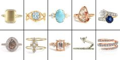 71 Alternative Engagement Rings - Non-Traditional, Unconventional Engagement Rings - Rose Gold, Black Diamond, and Colored Stone Engagement Rings