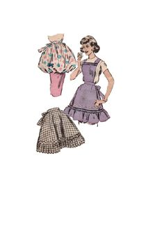 Butterick 8796 Sewing Pattern 50s Kitchen by AdeleBeeAnnPatterns, $18.00