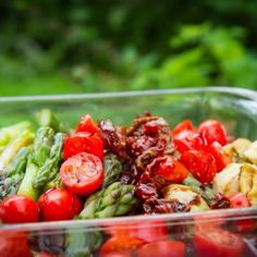Grilled Asparagus and Artichoke Salad