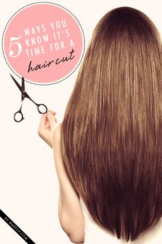 5 Ways You Know It's Time for a Haircut - Is it time? Or isn't it? How long has it been? Am I overdue? These are all questions we ask ourselves when trying to figure out if we should get a haircut. It's so easy to get caught up and forget when out last appointment was—but don't stress it. Here are five no-calendar-needed ways to figure out if it's time to see your stylist.
