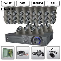 2930.31$  Watch now - http://ali2cl.worldwells.pw/go.php?t=1698243424 - 32 Ch Channels 32 1000TVL Camera DVR D1 720P Security System Vandal Proof HDMI