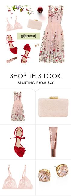 """Pink Floral Dress"" by magdafunk on Polyvore featuring Kayu, Alexandre Birman, Lancer Dermatology, La Perla, Tory Burch and Chloé"