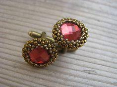 Ridgways / Manžetové gombíky - Violet/Antique Bronze