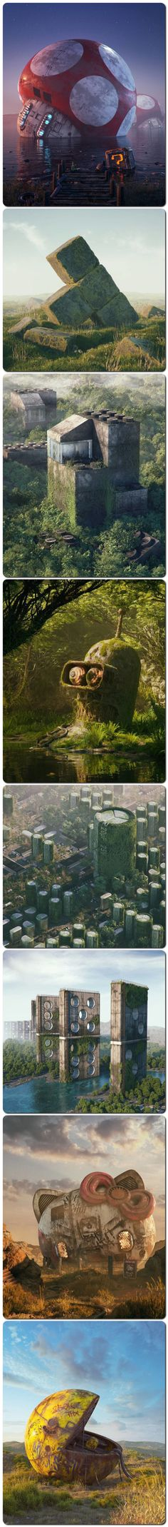 The Apocalypse Of Pop Culture By Filip Hodas - Dehily Geek Culture, Pop Culture, Best Funny Pictures, Cool Pictures, Writing Art, Environment Design, Cultura Pop, Japanese Artists, Digital Illustration