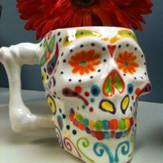 Skull mug painted by Jennifer Beamer! <3