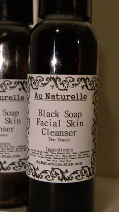 Black Soap Facial Cleanser    Two Ounce      Oily by aunaturelle, $10.00