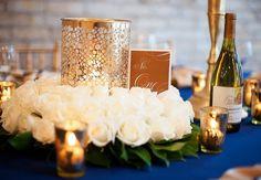 34 Elegant Navy And Gold Wedding Ideas | Weddingomania