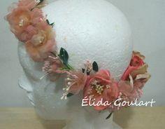 Tiara de flores Élida Goulart