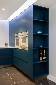 AK_03 Petrol Blue Matt Lacquer Kitchen