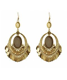 Gold Gypsy Chandelier Earrings from New Look