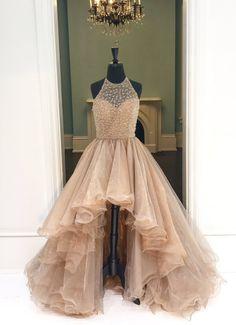 Homecoming Dresses Long, High Low Prom Dresses, Formal Dresses For Teens, Cute Prom Dresses, Trendy Dresses, Formal Prom, Dress Formal, High Low Gown, Prom Long