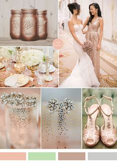 rose gold wedding color ideas and bridesmaid dresses for 2015