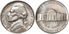 Jefferson Nickel 1938 - Now US Coin Guide Images Facts