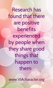 why you should share character strengths #VIAstrengths #values  tips for #happiness