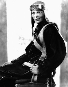 1928 - Amelia Earhart becomes the first woman to fly solo across the Atlantic Ocean. http://www.hipswap.com/antiques/amelia-earhart-luggage-obo