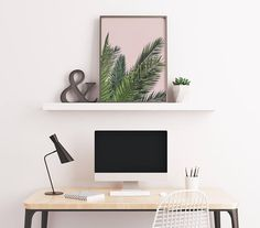 Blush Pink Palm Leaf Art by Summer Sun Home Art    Home Decor DIY, Home Decor on a Budget, Apartment Decorating on a budget, Apartment Decorating College, Dorm Room Ideas, Dorm Room Decor, Dorm Decor, Wall Decor, Wall Art, Gallery Wall, Tumblr Room Decor DIY, Boho Chic Decor, White Aesthetic, Modern Vintage, Midcentury Modern, Interior Decorating, Scandinavian Interior, Nordic Interior, Blush Grey Bedroom, Home Office Ideas, Workspace, Desk Ideas, Bathroom, Kitchen