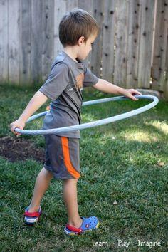 Gross Motor Activity {Hula Hoop Games} ~ Learn Play Imagine
