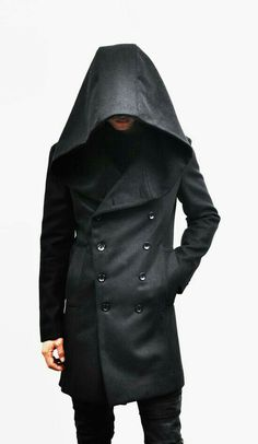 I want a coat like this! Outerwear :: Coats :: Avant-garde Big Hood Double Coat-Coat 39 - Mens Fashion Clothing For An Attractive Guy Look Dark Fashion, Mens Fashion, Fashion Outfits, Fashion Trends, Sharp Dressed Man, Well Dressed, Mode Sombre, Mode Costume, Look Man