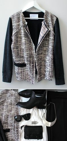 I recently discovered the Ketch shop online + fell in love- this Dolan metallic tweed jacket was one of my latest finds on there. It's a great piece + perfect for dressing up or down.