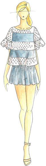 Ella Moss - PANTONE Placid Blue Spring 2014 Pantone Fashion Color Report #FCRS14  @Ella Gustafsson Gustafsson Gustafsson Gustafsson Moss