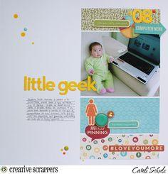 Little Geek - Sketch 258 Creative Scrappers @jillibeansoup