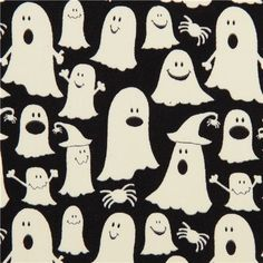black glow in the dark ghost fabric glow ghosts #Halloween