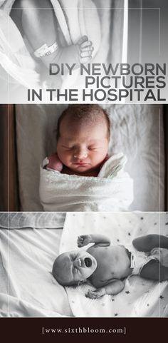 DIY: How to Take Good Newborn Pictures in the Hospital DIY neugeborene Bilder im Krankenhaus Baby Tritte, Diy Baby, Newborn Baby Boys, Baby Birth, Baby Shooting, Foto Newborn, Baby Kicking, Foto Baby, After Baby