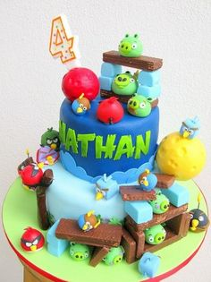 Angry Bird Space cake - by joannefam