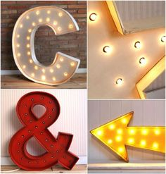 letras decorativas con luces