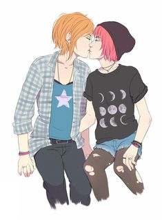 Consider this: Max as the punk one. Chloe takes the nerd role.