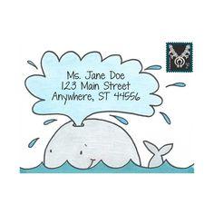 Wonderful Whale Mail Art