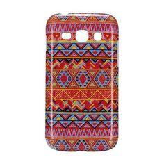 Aztec tribal hard case hoesje Samsung Galaxy Ace 3 (rood) - PhoneGeek.nl