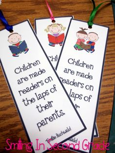 Open House bookmark as a welcome gift to parents.