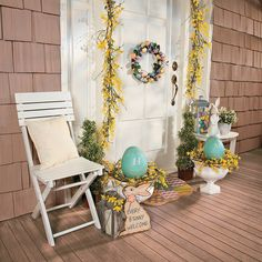 Easter Porch Welcome