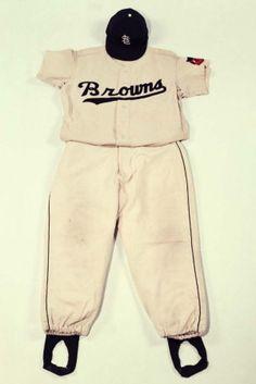 St. Louis Browns Uniform Worn by Centerfielder Jim Delsin (1952)