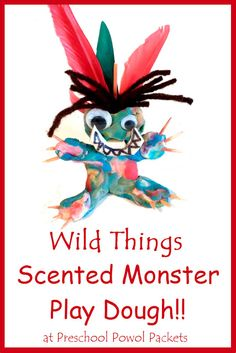 Wild Things Scented Monster Play Dough! An awesome activity to do after reading Where the Wild Things Are!!  Get the details by clicking on the picture!  from Preschool Powol Packets!