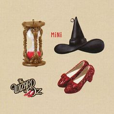 Wizard of Oz: Out of Time In Oz  2013 Set of 3 Miniature Hallmark Ornaments