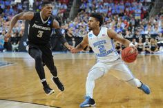 UNC vs Providence Joel Berry II (2) during second round action of the 2016 NCAA Men's Basketball Tournament between the North Carolina Tar Heels and the Providence Friars on March 19, 2016 in Raleigh, NC.