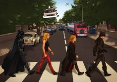 Danielle and Idan wanted to incorporate geeky people and objects into The Beatles' famous Abbey Road image. They brought in artist Aviv Or f...