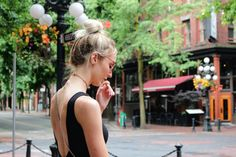 Hoodiexo Fashion: Black on Black in Gastown, Vancouver