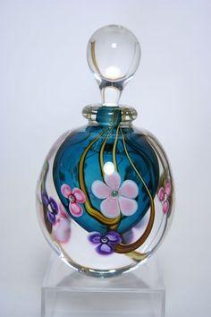 Pink Floral Perfume Bottle