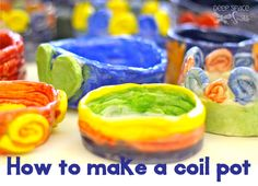 Great suggestions (and warnings) for making coil pots with elementary