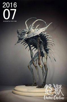 Puts trilobites in a whole different light! Dark Creatures, Alien Creatures, Fantasy Creatures, Monster Design, Monster Art, Arte Horror, Horror Art, Creature Feature, Creature Design