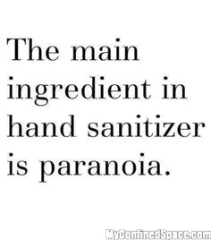 Pretty much, yes. And yes, there's always hand sanitizer in my purse! Shoot.