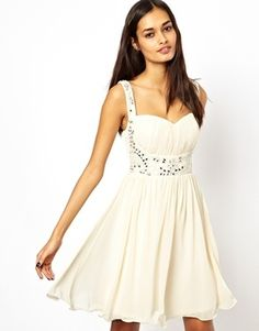 Little Mistress Embellished  Plus Size Prom Dress - cream