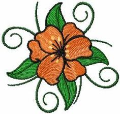 Free flowers lily embroidery design. Machine embroidery design. www.embroideres.com