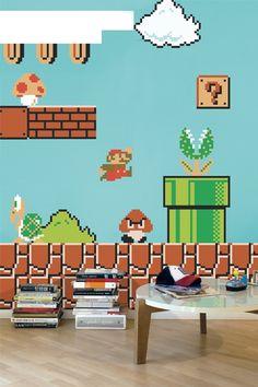 Super Mario Bros. wall graphics