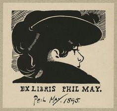[Bookplate of English caricaturist Phil May] (LOC)