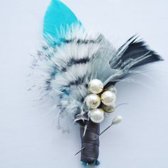 Rustic Boutonniere Feather boutonniere by WildRoseAndSparrow